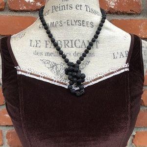 Lava Bead Mala Necklace Boho Jewelry